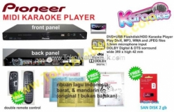 large pioneer dvd, midi, usb karaoke player