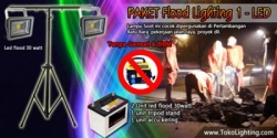 large Paket flood lighting 1 led