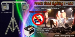 large Paket flood lighting 1 led